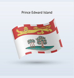 Canadian province prince edward island flag vector