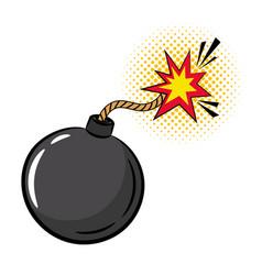 Cartoon bomb in pop art style vector