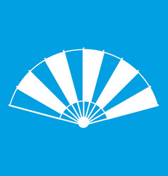 chinese fan icon white vector image