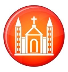 Christian catholic church building icon vector