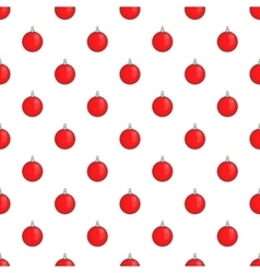 Christmas ball pattern cartoon style vector