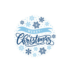 Christmas hand-drawn lettering vector