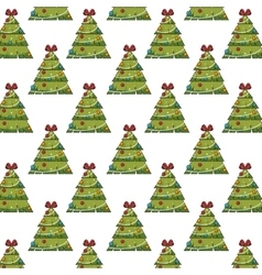 christmas pine tree background vector image