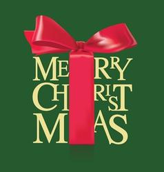 Christmas red ribbon vector