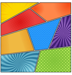 Comic bright book background vector