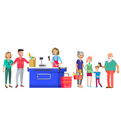 concept banner for shop character people vector image