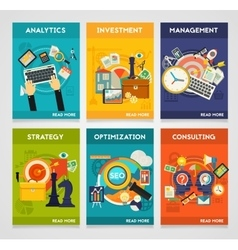 Consulting Management SEO Analytics Investment vector