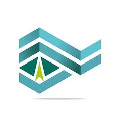 Design element arrow letter w icon symbol vector