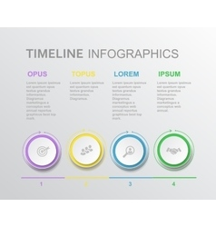 elements timeline infographic diagram vector image