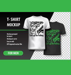 Fishing t-shirt template fully editable vector