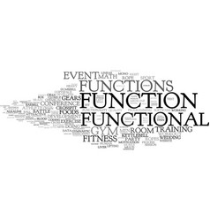 Functions word cloud concept vector