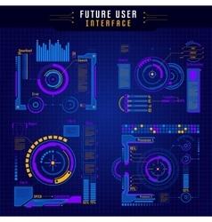 Future User Interface Icon Set vector