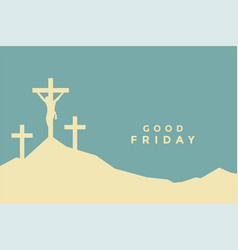 Good friday flat color style background design vector