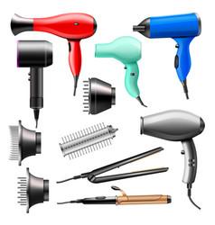 Hair dryer fashion hairdryer of hairdresser vector