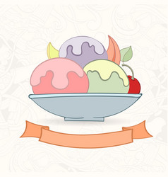 hand drawn background doodle style cupcakes vector image