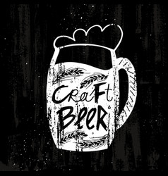 hand drawn craft beer template vector image
