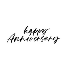 Happy anniversary hand drawn calligraphy vector