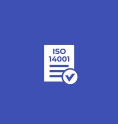 Iso 14001 icon vector