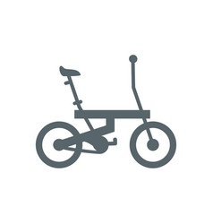 Isolated folding bike icon design vector