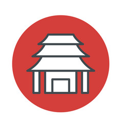 japan temple icon isolated on white background vector image