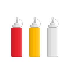 ketchup mayonnaise mustard vector image