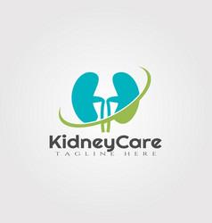 Kidney care logo designhealthcare and medical icon vector