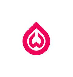 logo letter w in tear shape vector image