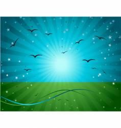 magic meadow illustration vector image