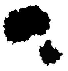 Map north macedonia and skopje country and vector