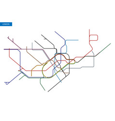 Map of the london underground vector