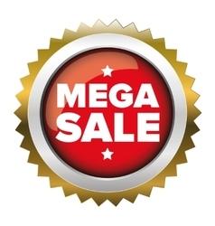 Mega Sale badge vector image