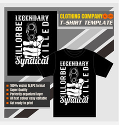 Mock up clothing company t-shirt templateholding vector
