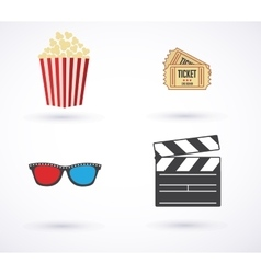 Movies icon set vector