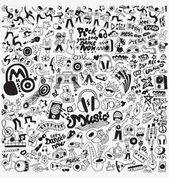 music dance doodles vector image