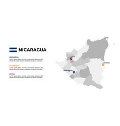 nicaragua map infographic template slide vector image