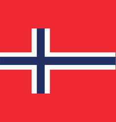 norway flag for independence day and infographic vector image