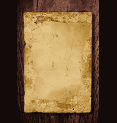 old paper on wooden board vector image