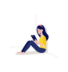 Online education girl student vector