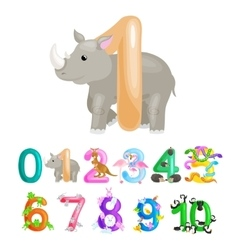 ordinal number 1 for teaching children counting vector image