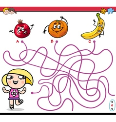 Path maze activity for kids vector
