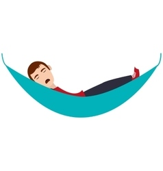 person sleeping icon vector image
