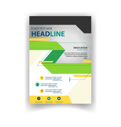 poster modern business ribbon design template vect vector image