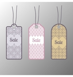 Price tags label Floral design vector image