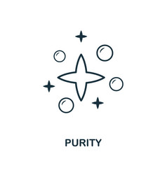 Purity icon line style element from hygiene vector