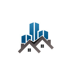 Real estate building logo template vector