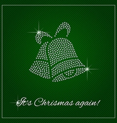 Rhinestone Christmas Template vector