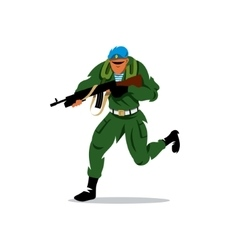 Russian special forces man Cartoon vector