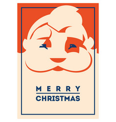 santa claus with beard minimalistic vector image