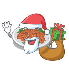 santa with gift sesame chicken in character vector image