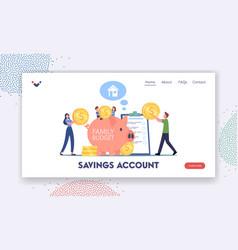 savings account landing page template people earn vector image